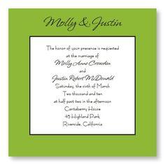 Simply Love Wedding Invitations by TheAmericanWedding.com