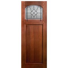 GlassCraft Bungalow Winslow SQ Mahogany Bungalow Door with Winslow Iron Grille and Choice of Glass at Doors4Home.com Interior Exterior, Exterior Doors, Entry Doors, Luz Natural, Palm Beach, Bungalow, Craftsman Style Doors, Brick Molding, Beveled Glass