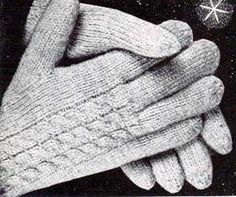 Free knitting patterns for adult gloves and mittens. Make a pair of mittens for yourself and another as a gift. Mittens Pattern, Knit Mittens, Knitting Socks, Free Knitting, Knitted Hats, Free Crochet, Crochet Gloves, Crochet Beanie, Fingerless Mitts