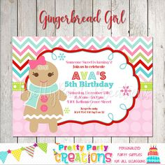 Your place to buy and sell all things handmade 5th Birthday, All Design, Party Supplies, Gingerbread, All Things, Handmade Items, Etsy Shop, Invitations, Stuff To Buy