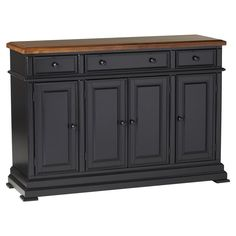 Store your extra dinnerware, flatware, and table linens in a buffet table or sideboard. Shop our great selection of stylish buffet tables and sideboards. Kitchen Buffet, Dining Room Buffet, Kitchen Island, Dining Table, Corner Tv, Painted Furniture, Home Furniture, Furniture Ideas, Refurbished Furniture