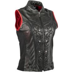 SPEED AND STRENGTH - Women's Moto Lisa Leather Motorcycle Vest - Vests - Street - Protection - Women's - Cycle Gear
