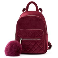 With its plush velvety construction and chic quilted design, this Candie's mini backpack is a real treat to hold. Fashion Bags, Fashion Backpack, Cute Mini Backpacks, Mini Mochila, Mini Backpack Purse, Velvet Quilt, Purple Bags, Mini Handbags, Quilted Bag