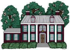 """Everhart Farm House (illustration for """"The Chronicles of Gray Wolf: The Legacy of the Spirit Stone"""")"""