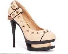 Sheek Heels - Beige Riveted Dual Platform, £49.99 (http://www.sheekheels.co.uk/beige-riveted-dual-platform/)