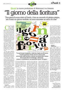 """""""Il giorno della fioritura"""", ebook Musicaos 05, su """"Il Paese Nuovo"""" del 12 Gennaio 2013"""