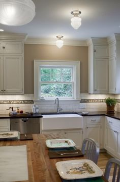 My kitchen shiloh cabinets with inset doors in soft white for 1920 kitchen design ideas
