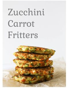 zucchini carrot fritters via RDelicious Kitchen @rdkitchen