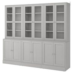 LIATORP Storage combination with doors, white, 108 Are you a romantic at heart? Combine with other furniture in the LIATORP series for a complete, beautiful look. Glass Cabinet Doors, Sliding Glass Door, Glass Doors, China Cabinet, Liatorp, Scandinavian Furniture, Scandinavian Design, Plastic Foil, Tempered Glass Shelves