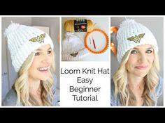 How to Loom Knit a Hat with a Hem - Beginner   www.melaniekham.com