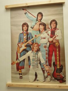 Vintage Bay City Rollers Poster RARE 1975 Pace Int 3059 Was Unopened 184   eBay