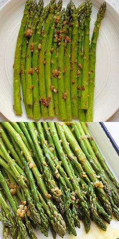 Saute Asparagus, Best Asparagus Recipe, Grilled Asparagus Recipes, Baked Asparagus, Healthy Dinner Recipes, Vegan Recipes, Cooking Recipes, Chicken Pasta Recipes, Vegetable Dishes