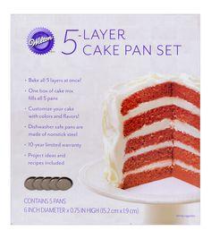 Wilton Round Easy Layer Cake Pan Mould Set (Bake Cakes With 5 Layers! Round Cake Pans, Round Cakes, Mini Cakes, Cupcake Cakes, Cake Decorating Tools, Cookie Decorating, Decorating Ideas, Baking Supplies, Kitchen Supplies