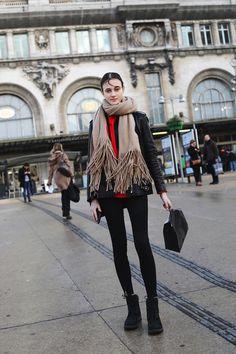Greta Varlese at Olivier Theyskens 2017 - 2018 Paris Snapped by Benjamin Kwan Paris Fashion Week