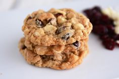 White Chocolate Oatmeal Craisin Coconut Cookies | Mel's Kitchen Cafe