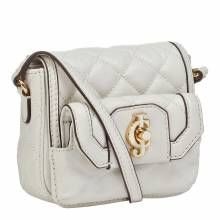 Juicy Couture White Leather Desert Oasis Quilted Mini Bag