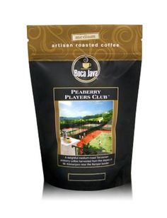 Boca Java Roast to Order, Peaberry Players Club, Ground, Medium Roast African Coffee, 8 oz. bags (Pack of 2) *** Trust me, this is great! : Amazon fresh