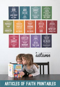 free #printables of the Articles of Faith to help your family memorize them - these are gorgeous! all 13 included | #lds #mormon