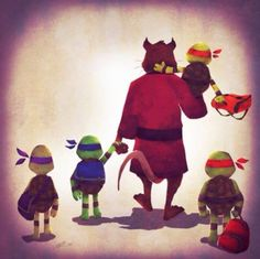 TMNT. aww, even the turtles were little once
