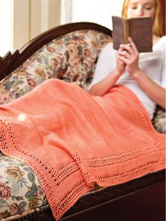 Summer Time-Out Throw Knitting Pattern Download from e-PatternsCentral.com -- Curl up with a great book and a light throw.