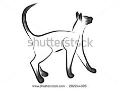 Fashionable Hipster Cat On A Retro Scooter Stock Vector 168845900 : Shutterstock