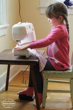 Tiny Sewists: Teaching Kids to Sew :: Lesson 5 | A Jennuine LifeA Jennuine Life