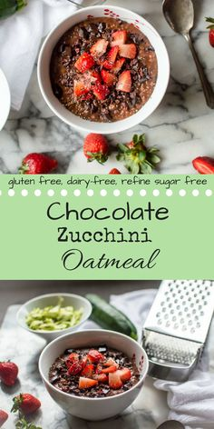 Oh. My. Gosh. Guys, if you have been looking for the *perfect* veggie-loaded breakfast recipe to feed your kids (and yourself), hold onto your hats....because I am about to bring you Chocolate Zucchini Oatmeal! Seriously SO easy I manage to make it on the most sleep deprived of mornings and oh-so kid-friendly plus...yeah, there are veggies in there! gluten free, dairy free, refine sugar free