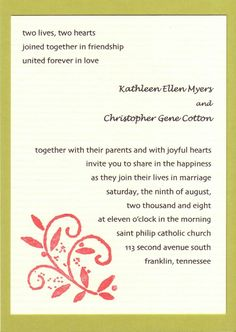 Wedding ideas wedding invite samples for public sample wedding find this pin and more on weddings idea by gina rogers stopboris Image collections