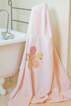 hooded robe for the wee ones. you use a bath towel and a hand towel. super cute.