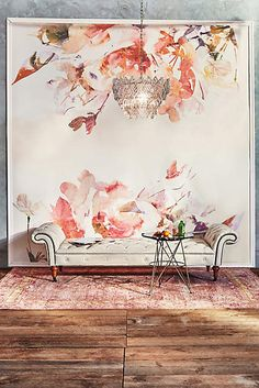 1000 ideas about pink ceiling on pinterest pink ceiling for Anthropologie mural wallpaper