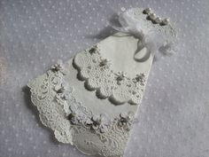 White Paper Doily Christening Baptism Gown by ljbminis2021 on Etsy, $3.99