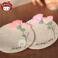 День 2 нетканого материала пакета DIY ручной работы цветки гвоздики Матери подарок подставки - Taobao