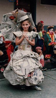 Disfraces originales: Fotos de creaciones con papel de periódico