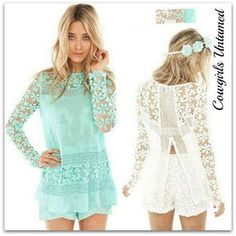 4aa6f064e54 ...  Modebuy  CommeMontre  dress  me  sexy. COWGIRL GYPSY TOP Chiffon and  Crochet Lace with Open Back Long Sleeve Top Cheap Blouses