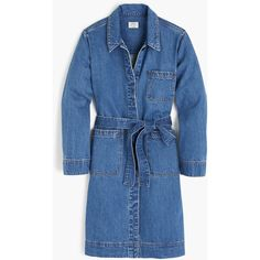 J.Crew Denim Duster Jacket (2.464.320 IDR) ❤ liked on Polyvore featuring outerwear, jackets, blue denim jacket, j crew jacket, jean jacket, blue jean jacket and layered jacket