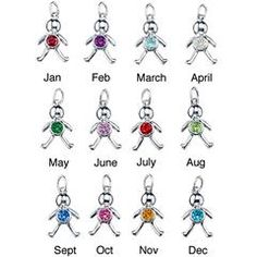 AVON'S Sterling Silver Birthstone-Color CZ Baby Charms, $9.99 each, Order here: www.youravon.com/mhamilton39