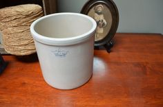 $32.90 ✿   bluefolkhome on etsy ✿  RRP Co. 1 Gallon Crock Roseville Crock Pottery Rustic Farmhouse Cottage Decor Urban Farmhouse I Ship Worldwide by bluefolkhome on Etsy