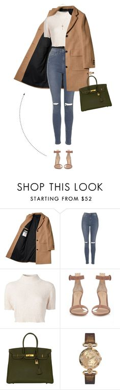 """Agora Eu Quero Ir - Look Four"" by vicky-carter ❤ liked on Polyvore featuring Topshop, Rachel Comey, Gianvito Rossi, Hermès, Versus and Isabel Marant"