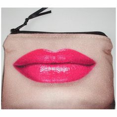 Hot Pink Lips Purse Purple Lipstick Zipped Coin Credit Card Holder £5.00