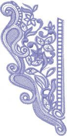 lace collar embroidered design. Machine embroidery design. www.embroideres.com