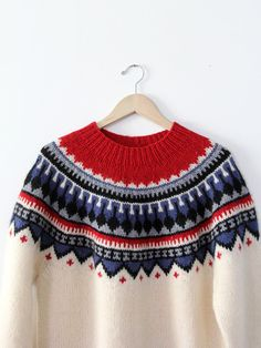 vintage fair isle sweater / folk sweater / nordic by 86Vintage86
