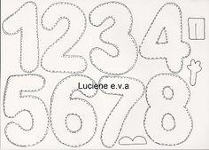 moldes de numeros - Pesquisa Google