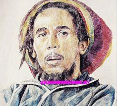 Jonas Berami si fa l'autoritratto di lui in versione Bob Marley per i suoi 70 anni