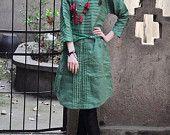 Linen Tunic Dress in Green