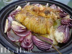 Il Blog di Picetto: Cosce di pollo ripiene e cipolle di Tropea anche al microonde