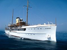 (SS Delphine) (258') Steam Luxury Yacht - Built 1921 for Horace Dodge, Co-Founder of Dodge Brothers - Current Owner Restored it, in 2003, to it's Original Condition - Based in Monaco
