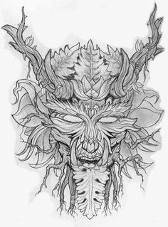 Image from http://jimbobisaac.files.wordpress.com/2011/06/green-man-sketch-web.jpg.