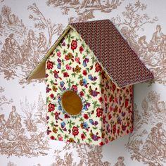 Décalé chic : la vraie fausse maison d'oiseaux par #fifiloiseau sur #Dawanda