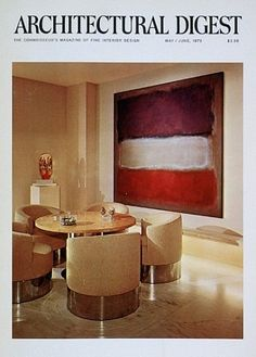 The cover of the May/June 1972 issue, featuring the Chicago residence of of Sigmund Edelstone. Architecture by Ernest A. Grunsfeld III, interior design by Arthur Elrod and William Raiser.