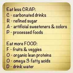 basics of #cleaneating
